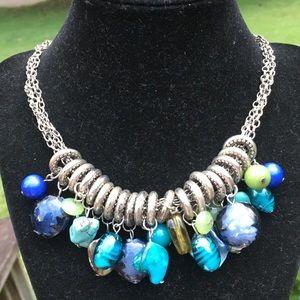Vintage boho stone/gemstone necklace